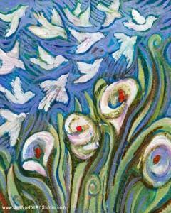 Lillies & Birds